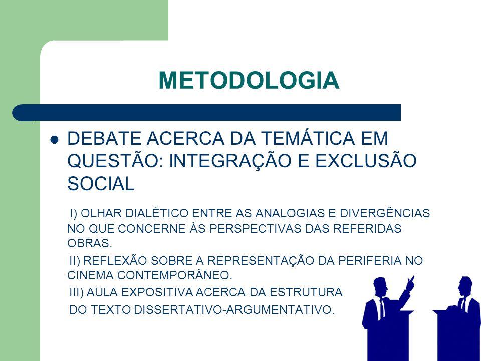 METODOLOGIA DEBATE ACERCA DA TEMÁTICA EM QUESTÃO: INTEGRAÇÃO E EXCLUSÃO SOCIAL I) OLHAR DIALÉTICO ENTRE AS ANALOGIAS E DIVERGÊNCIAS NO QUE CONCERNE ÀS PERSPECTIVAS DAS REFERIDAS OBRAS.