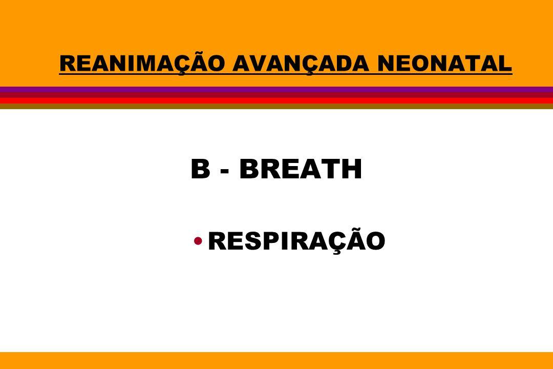 REANIMAÇÃO AVANÇADA NEONATAL B - BREATH RESPIRAÇÃO