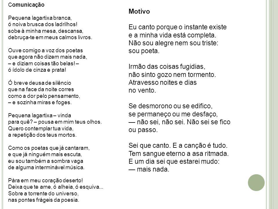2) Murilo Mendes (1901 – 1975) Conhecido como poeta dos contrários e dos contrastes – inicia a sua obra com a poesia humorística do primeiro momento, passa a ser influenciado pelo surrealismo e, por fim, faz uma poesia religiosa e transcendental.