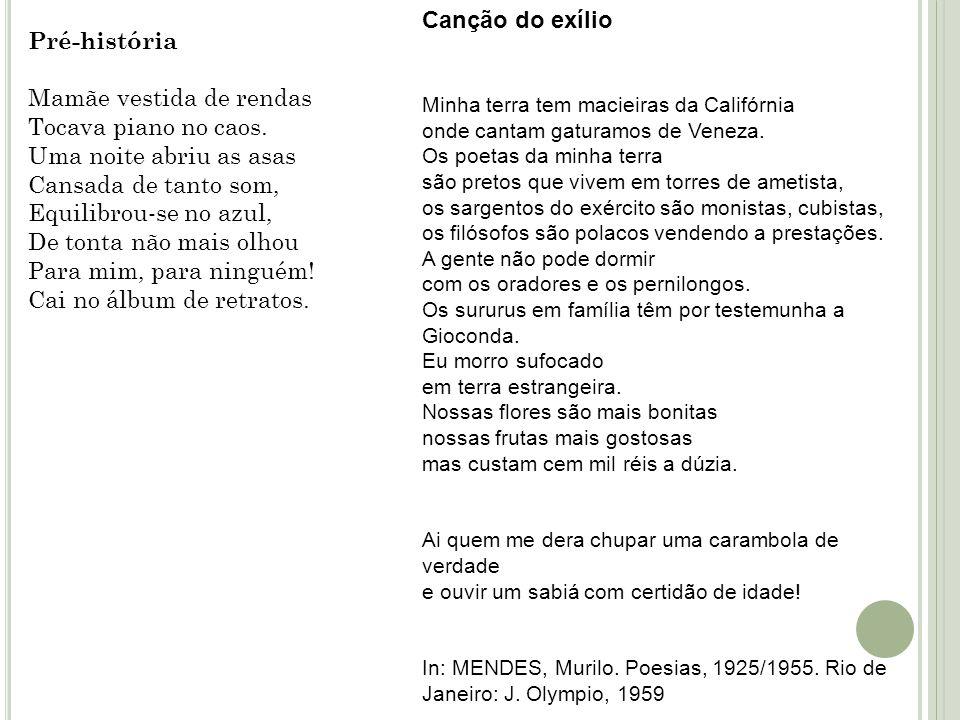 3)Carlos Drummond de Andrade Primeiro grande poeta nascido dentro do modernismo.