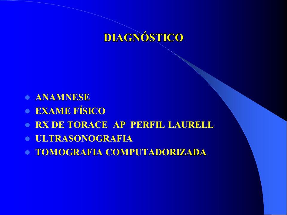 FASES DO EMPIEMA SOCIEDADE AMERICANA DE TORACE FASE - I - EXUDATIVA Baixa celularidade, Líquido fluido e aquoso, Laboratório ( pH, glicose, DHL, prote