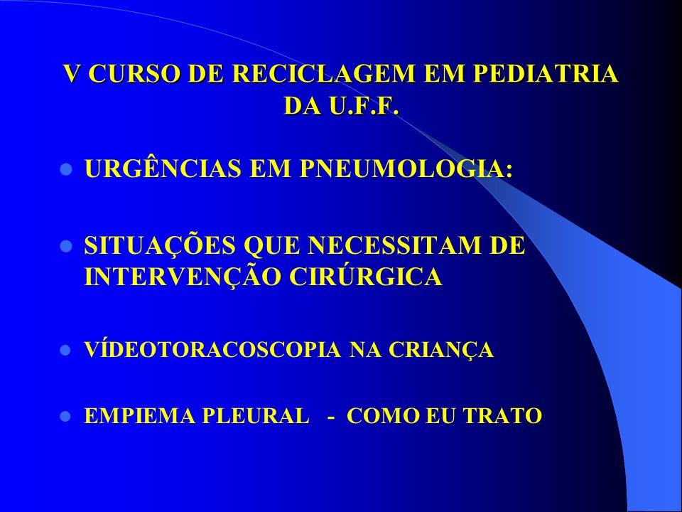 MINISTÉRIO DA SAÚDE HOSPITAL DOS SERVIDORES – HSE – RJ SERVIÇO DE CIRURGIA PEDIÁTRICA Dilton Rocha Abril de 2003