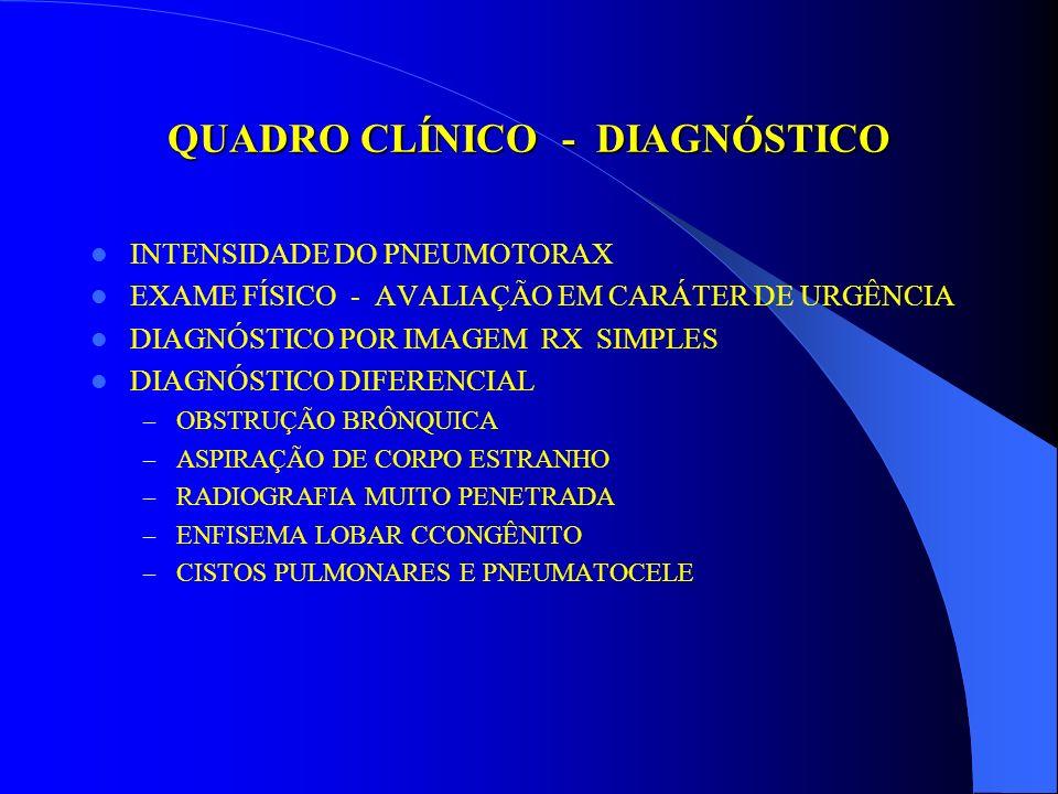 EMERGÊNCIAS PNEUMATOLÓGICAS PNEUMOTÓRAX PRIMÁRIO PERÍODO NEONATALSECUNDÁRIO INDUZIDO PATOGENIA VENTILAÇÃO MECÂNICA ABERTO AFECÇÕES PULMONARES FECHADO