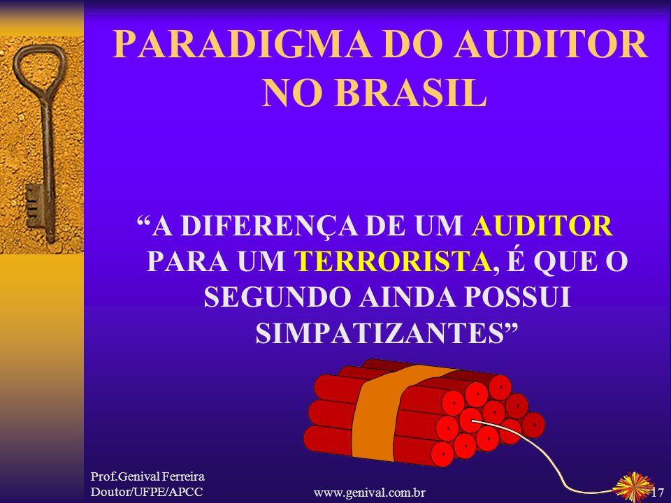Prof.Genival Ferreira Doutor/UFPE/APCCwww.genival.com.br16 A Administração não pode ser definida legalmente (Peter Drucker) A VERDADE ABSOLUTA NÃO É P