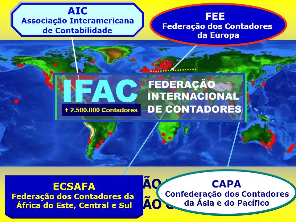 0RGANIZAÇÃO MUNDIAL DA PROFISSÃO CONTÁBIL ECSAFA Federação dos Contadores da África do Este, Central e Sul FEE Federação dos Contadores da Europa AIC