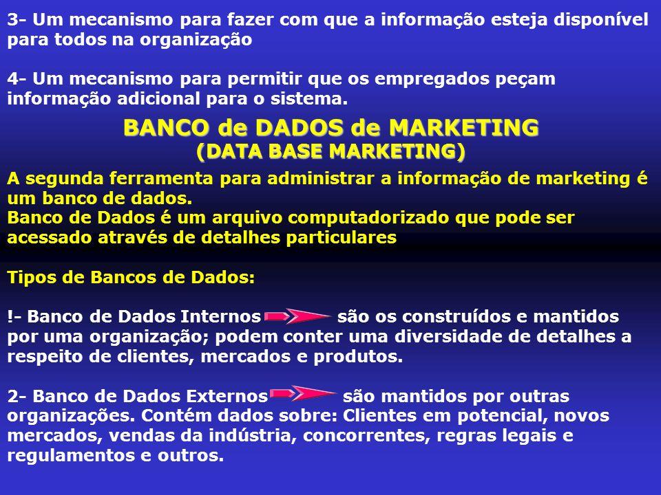 TIPOS de PESQUISA de MARKETING Pesquisa FORMAL Pesquisa INFORMAL A pesquisa INFORMALé aquela em que se coleta dados de marketing quando quer que surja a oportunidade.