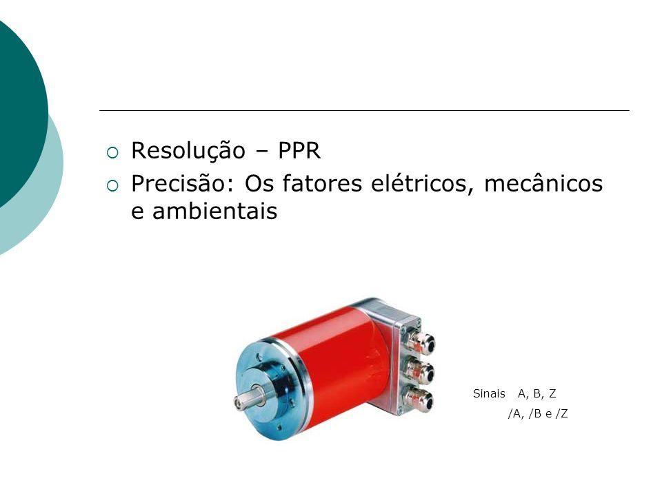 Resolução – PPR Precisão: Os fatores elétricos, mecânicos e ambientais Sinais A, B, Z /A, /B e /Z
