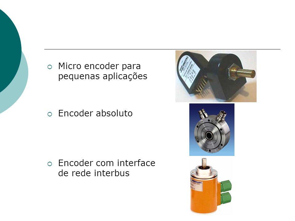 Micro encoder para pequenas aplicações Encoder absoluto Encoder com interface de rede interbus