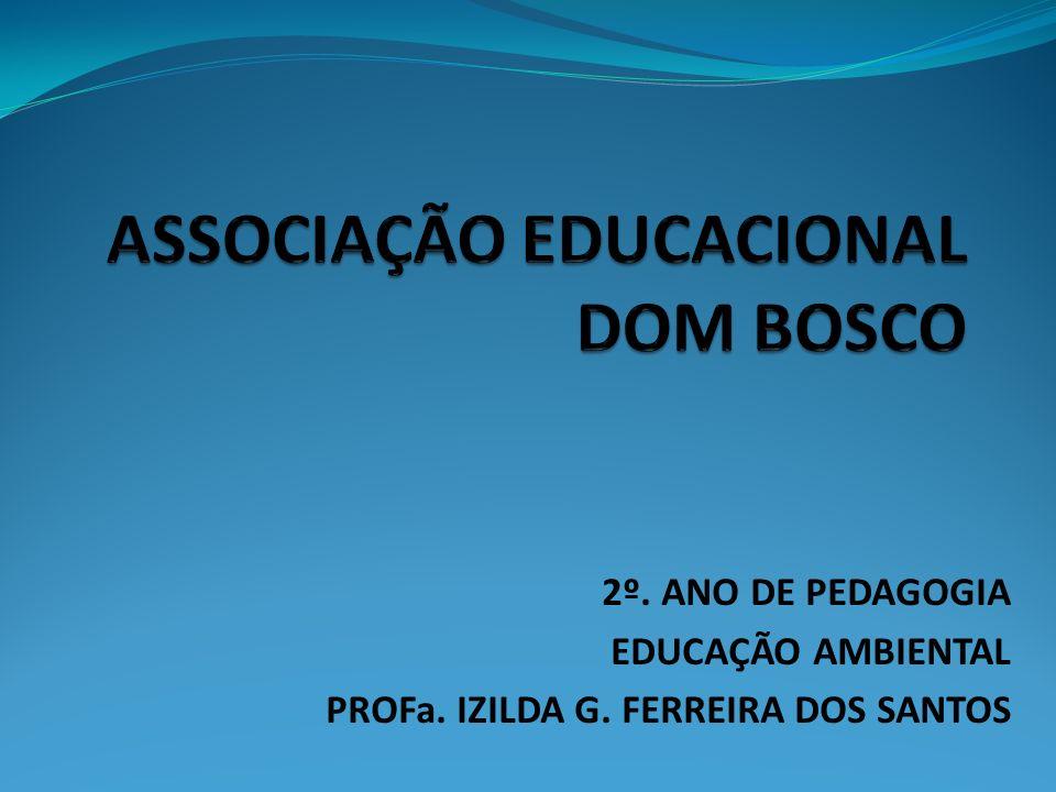 CURSO : PEDAGOGIA DISCIPLINA : EDUCAÇÃO AMBIENTAL PROFa.