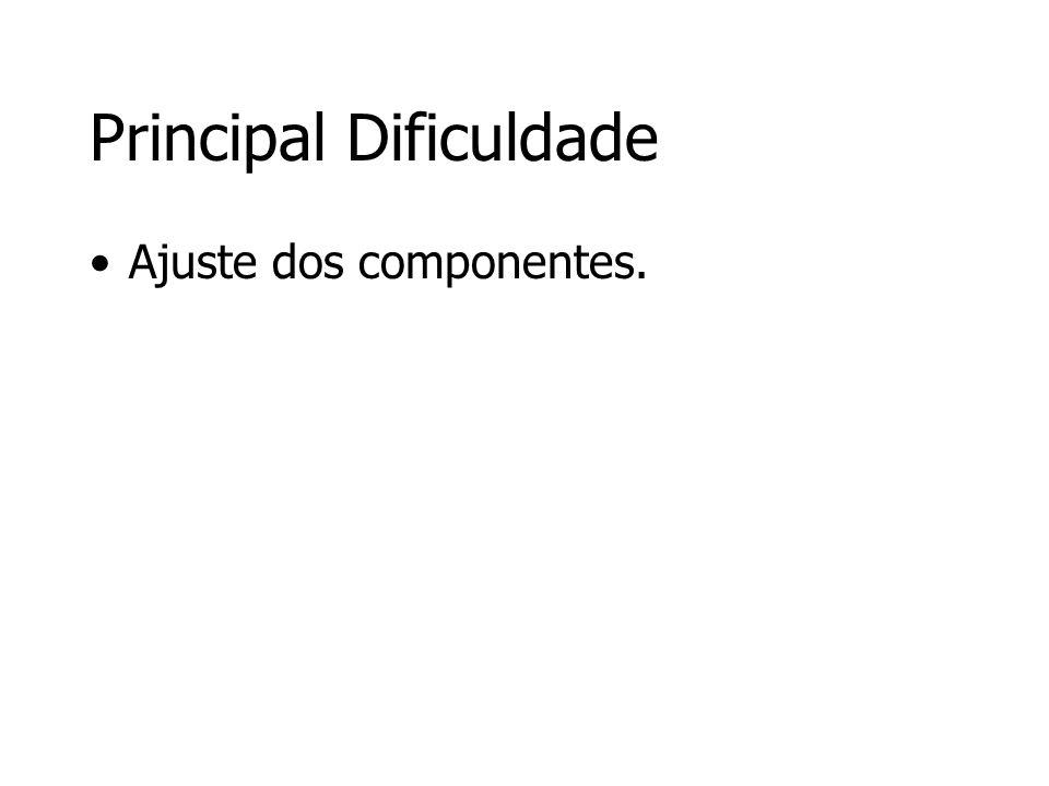Principal Dificuldade Ajuste dos componentes.