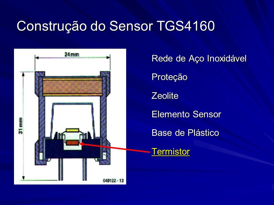 Construção do Sensor TGS4160 Rede de Aço Inoxidável ProteçãoZeolite Elemento Sensor Base de Plástico Termistor
