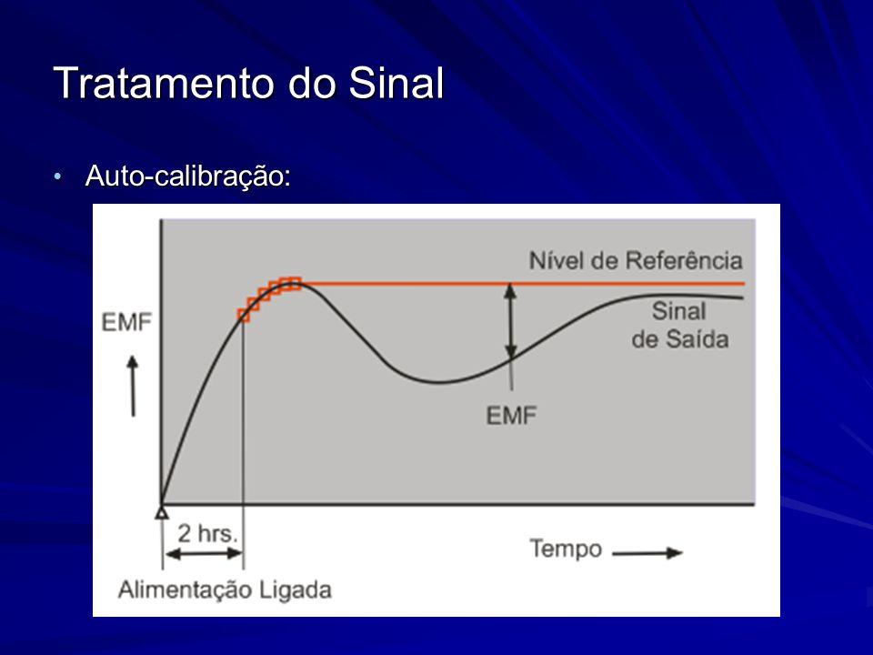 Tratamento do Sinal Auto-calibração: Auto-calibração: