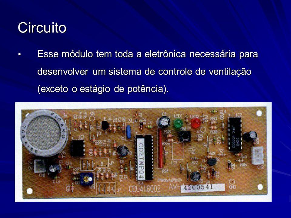 Circuito Esse módulo tem toda a eletrônica necessária para desenvolver um sistema de controle de ventilação (exceto o estágio de potência). Esse módul