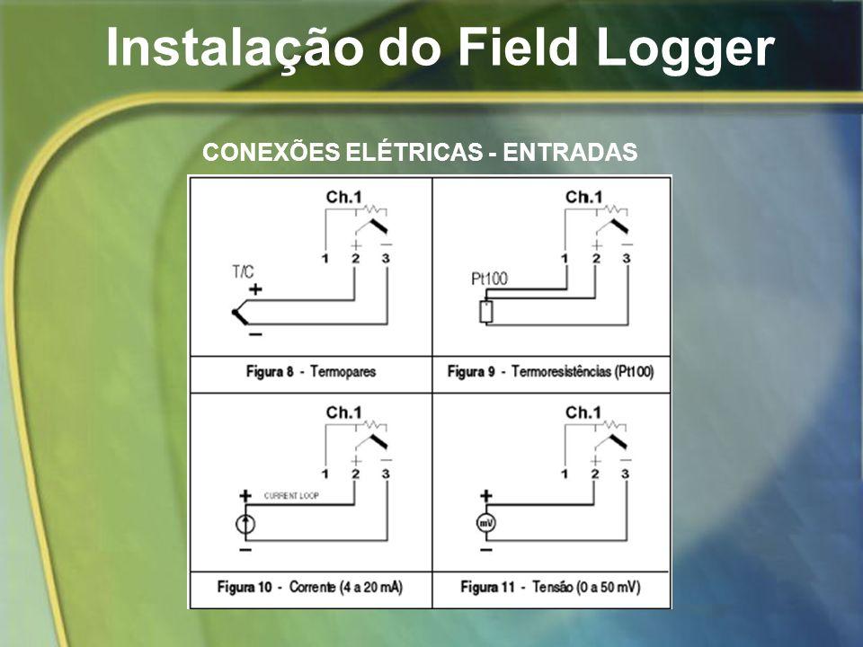 Instalação do Field Logger CONEXÕES ELÉTRICAS - ENTRADAS