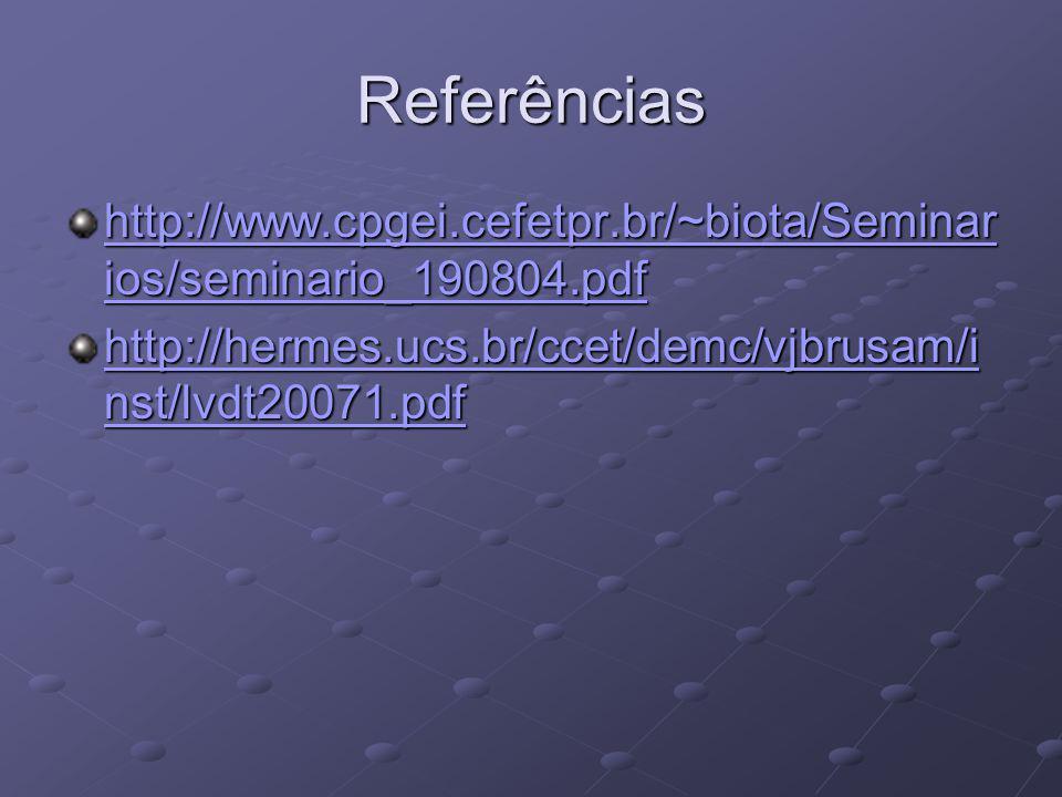 Referências http://www.cpgei.cefetpr.br/~biota/Seminar ios/seminario_190804.pdf http://www.cpgei.cefetpr.br/~biota/Seminar ios/seminario_190804.pdf ht