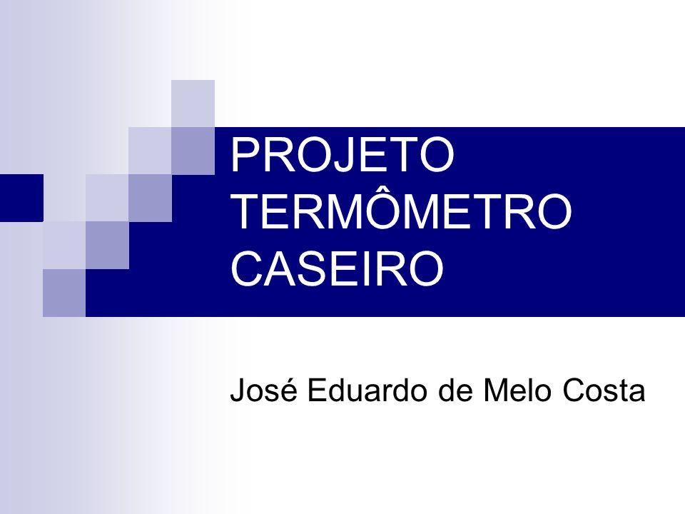 PROJETO TERMÔMETRO CASEIRO José Eduardo de Melo Costa