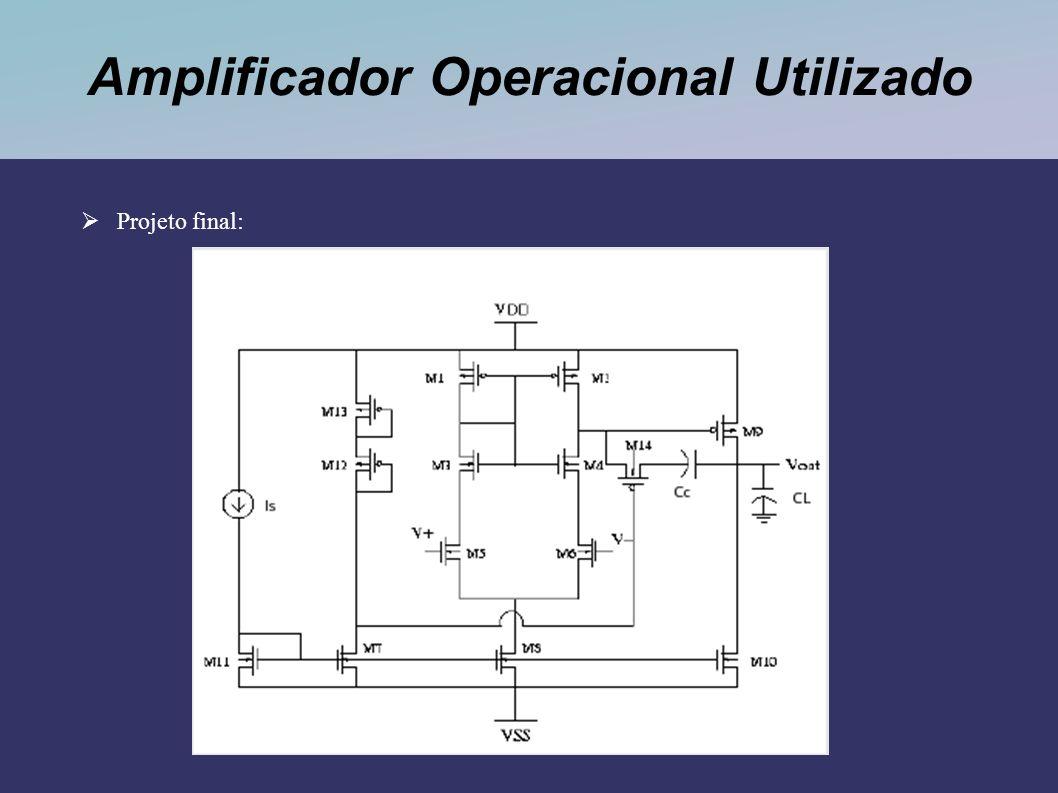 Amplificador Operacional Utilizado Projeto final: