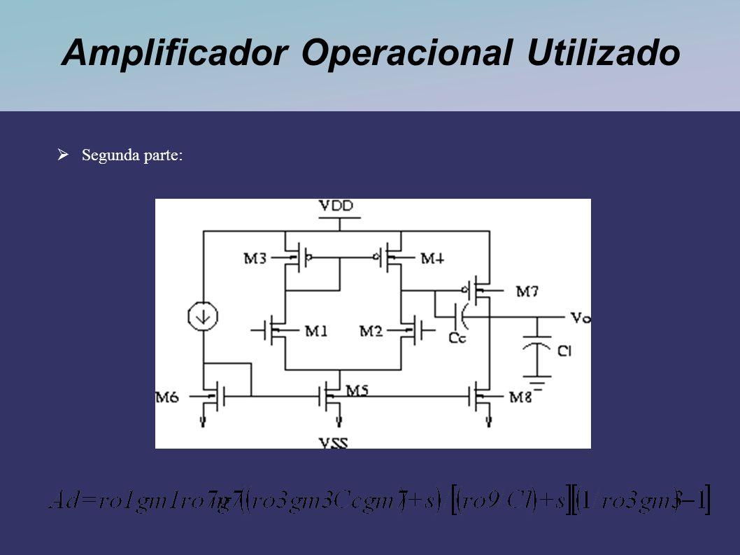 Amplificador Operacional Utilizado Segunda parte:
