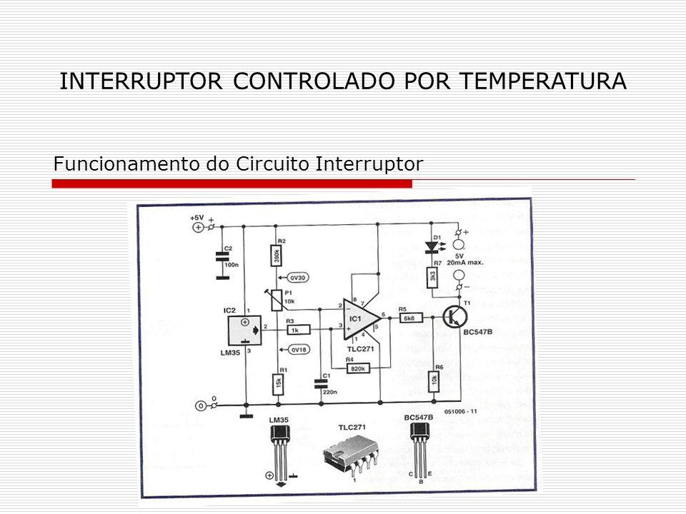 INTERRUPTOR CONTROLADO POR TEMPERATURA Funcionamento do Circuito Interruptor