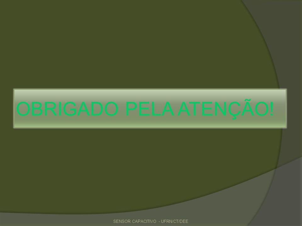 OBRIGADO PELA ATENÇÃO! SENSOR CAPACITIVO - UFRN/CT/DEE