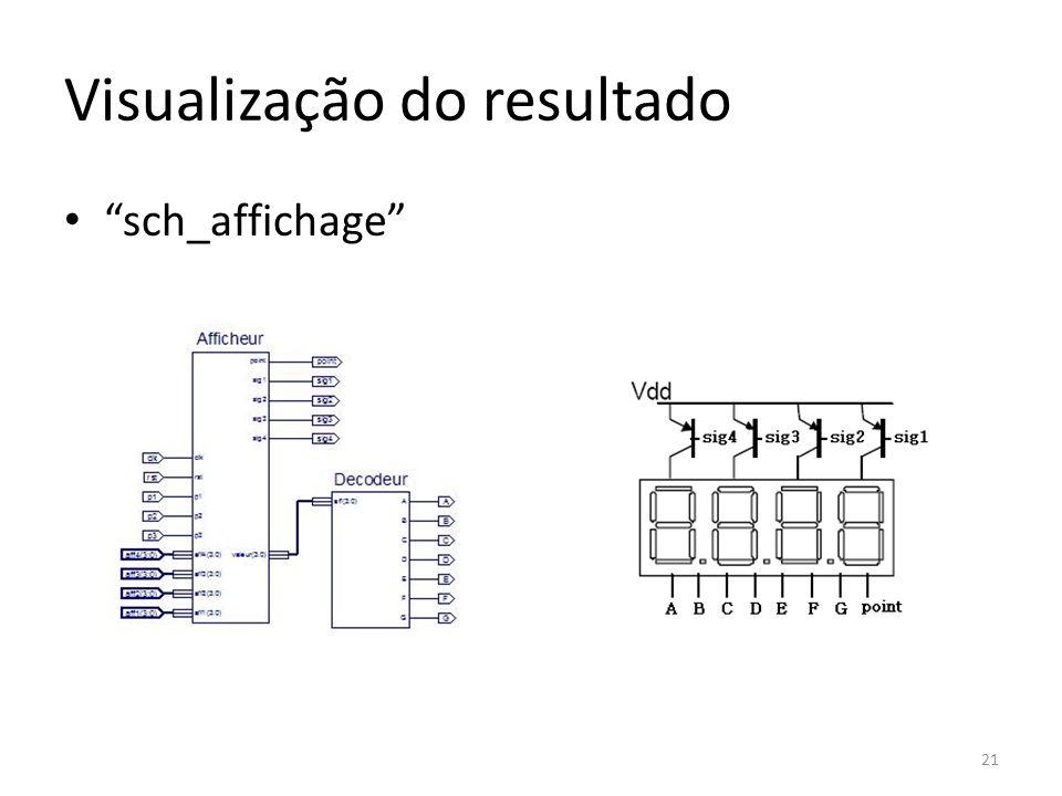 Visualização do resultado sch_affichage 21