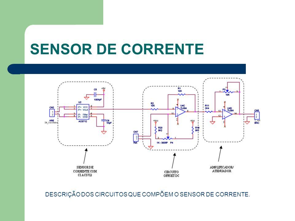 SENSOR DE CORRENTE DESCRIÇÃO DOS CIRCUITOS QUE COMPÕEM O SENSOR DE CORRENTE.