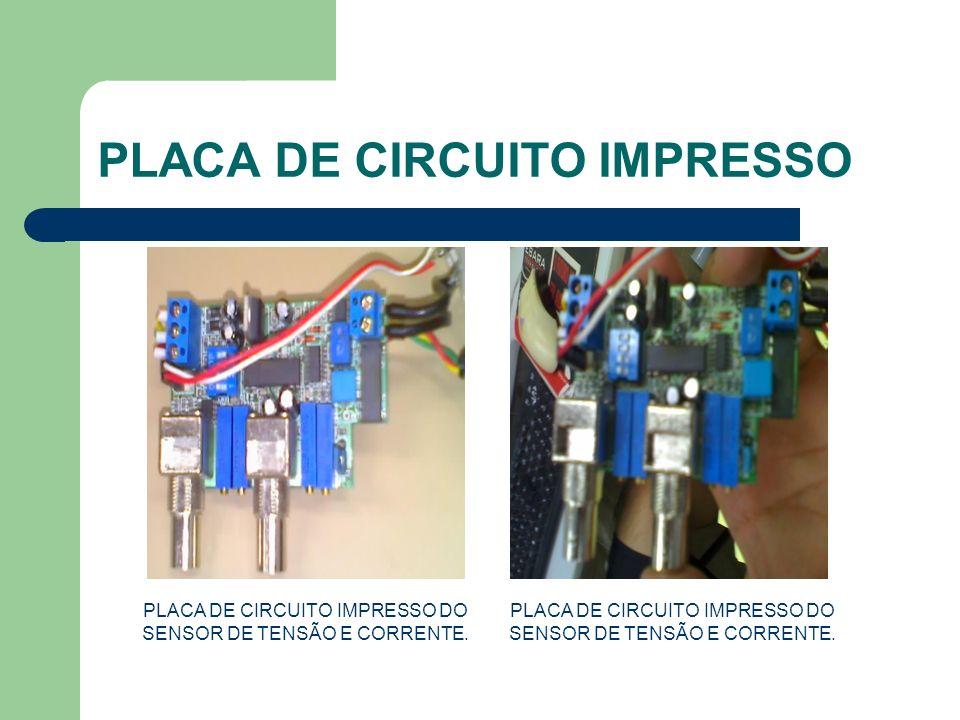 PLACA DE CIRCUITO IMPRESSO PLACA DE CIRCUITO IMPRESSO DO SENSOR DE TENSÃO E CORRENTE.