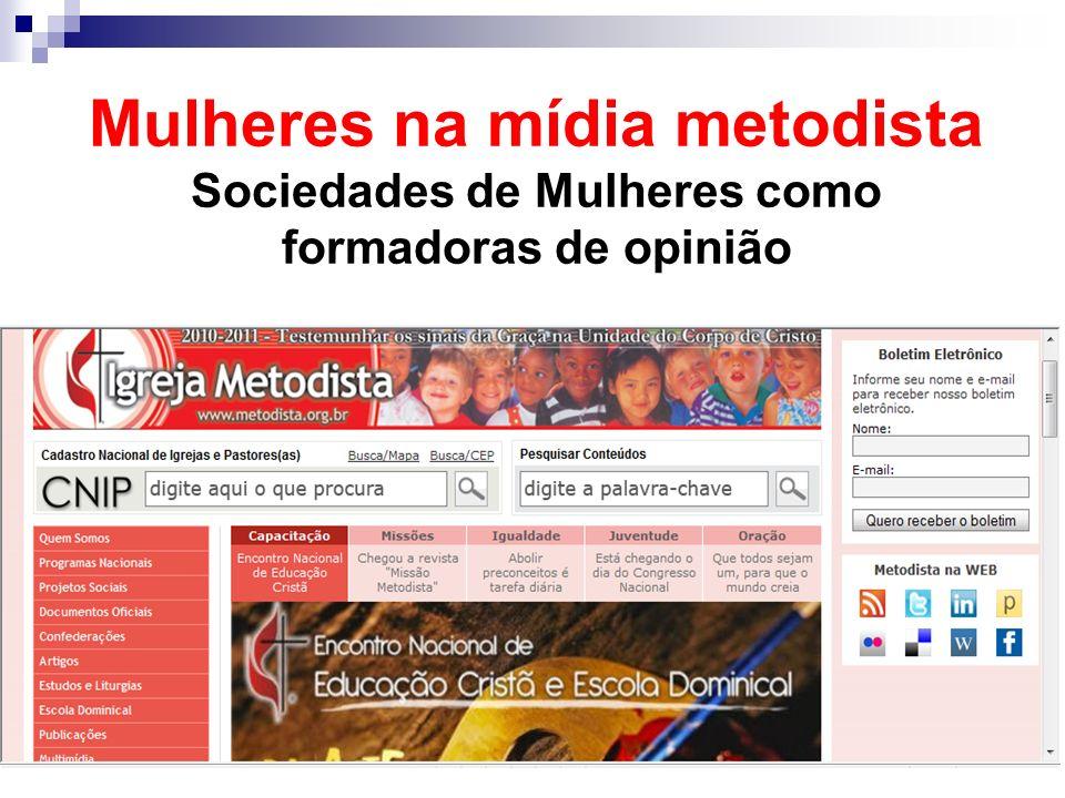 Mulheres na mídia metodista Sociedades de Mulheres como formadoras de opinião