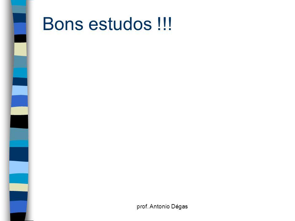 prof. Antonio Dégas Bons estudos !!!
