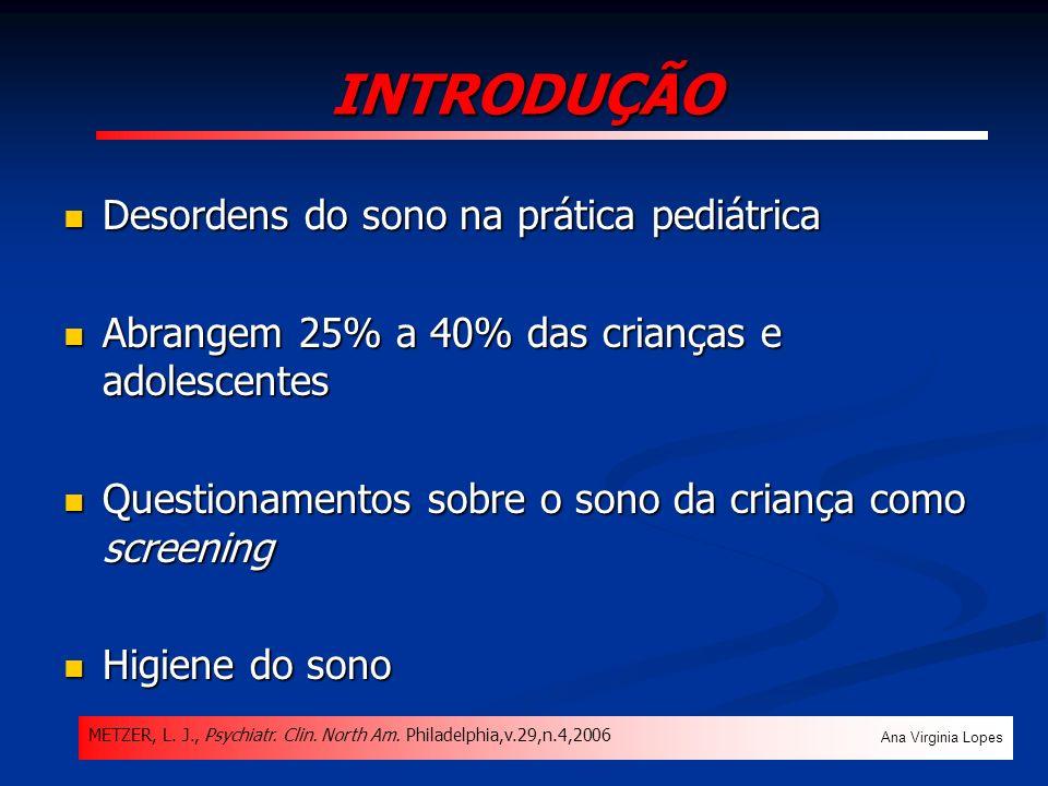 CONCLUSÃO Ana Virginia Lopes O sonilóquio apresentou baixa prevalência, com maior número de casos no ambulatório de Pneumopediatria.