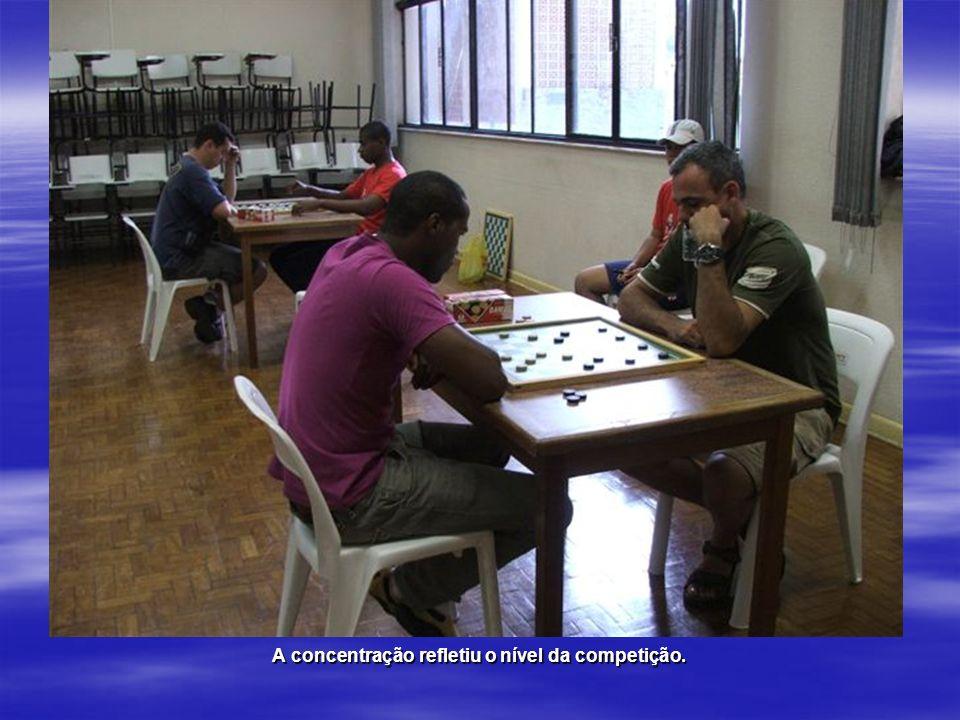 A concentração refletiu o nível da competição.