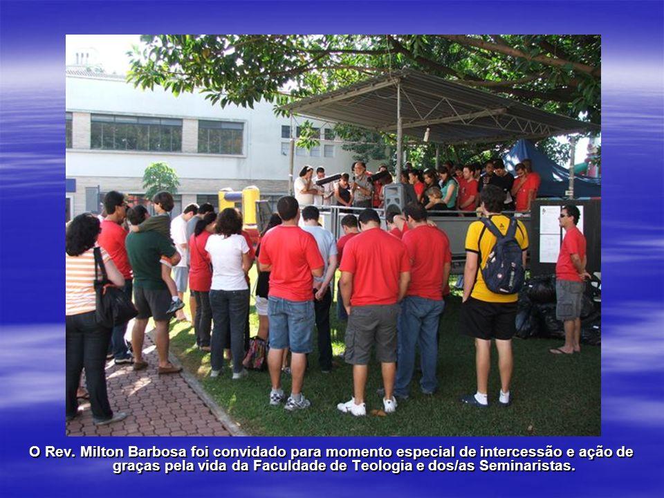 O Rev. Milton Barbosa foi convidado para momento especial de intercessão e ação de graças pela vida da Faculdade de Teologia e dos/as Seminaristas.