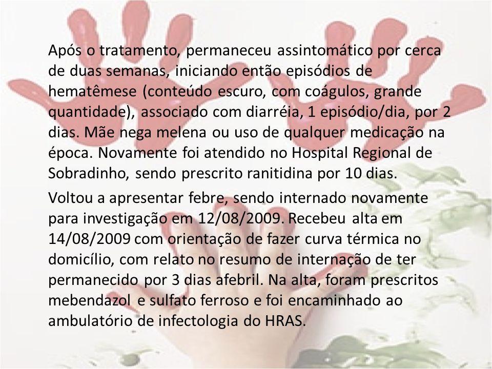 Etiologia Colagenoses/doenças auto-imunes (10-20%) >6meses Artrite idiopática juvenil Lúpus eritematoso sistêmico Febre reumática Poliarterite nodosa Doença de Kawasaki Doença inflamatória intestinal Doença de Crohn
