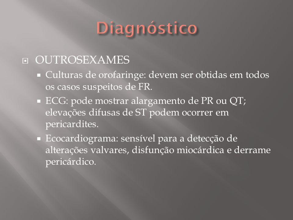 PROFILAXIA PRIMÁRIA (ERRADICAÇÃO DO FOCO) Antibióticos de escolha: penicilina.