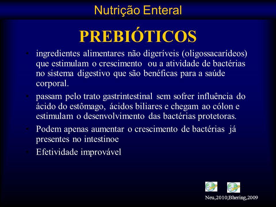 ingredientes alimentares não digeríveis (oligossacarídeos) que estimulam o crescimento ou a atividade de bactérias no sistema digestivo que são benéfi