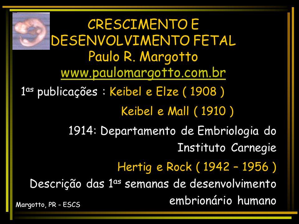 CRESCIMENTO E DESENVOLVIMENTO FETAL Paulo R.