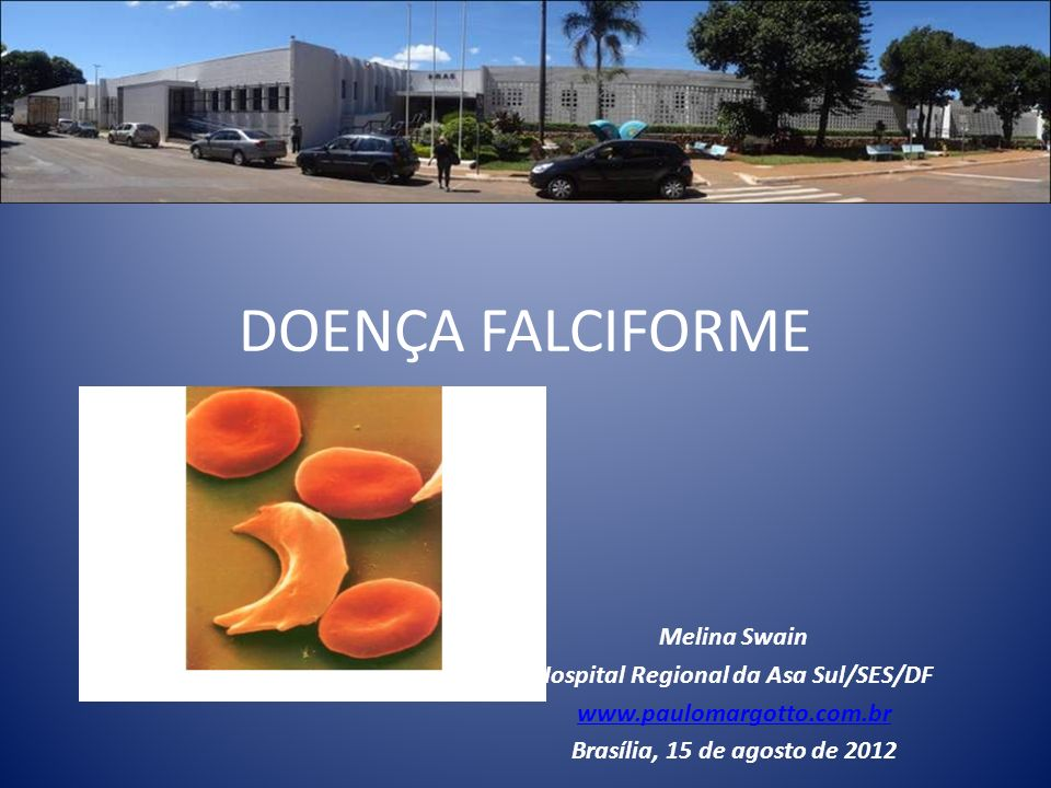 DOENÇA FALCIFORME Melina Swain Hospital Regional da Asa Sul/SES/DF www.paulomargotto.com.br Brasília, 15 de agosto de 2012