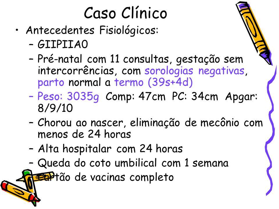 Caso Clínico Gasometria (16/09/06): pH7.41 pCO 2 21 pO 2 142 HCO 3 13 BE-10 Sat99% Acidose metabólica compensada Colestase Encefalopatia hepática .