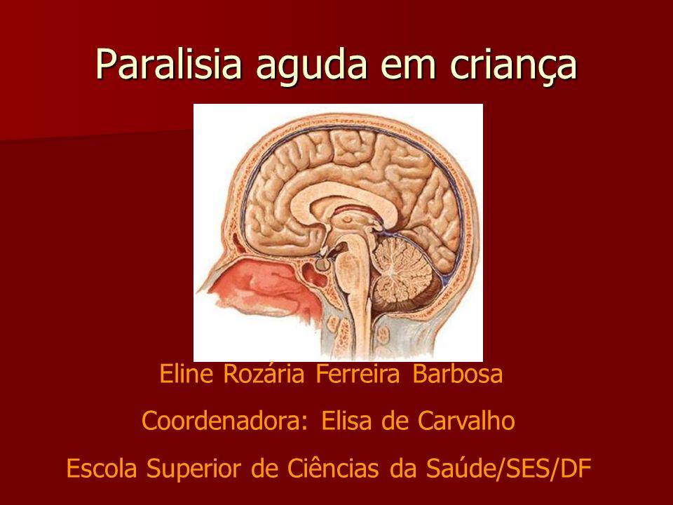 Paralisia aguda em criança Eline Rozária Ferreira Barbosa Coordenadora: Elisa de Carvalho Escola Superior de Ciências da Saúde/SES/DF