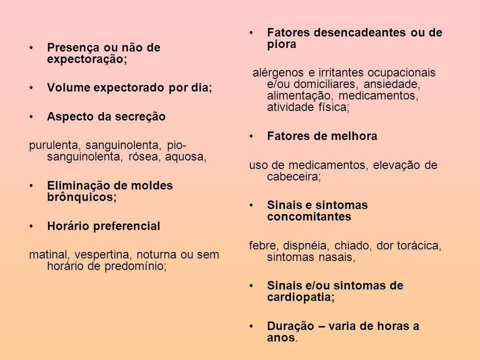 Classificação Aguda: Presença do sintoma por um período de até três semanas.