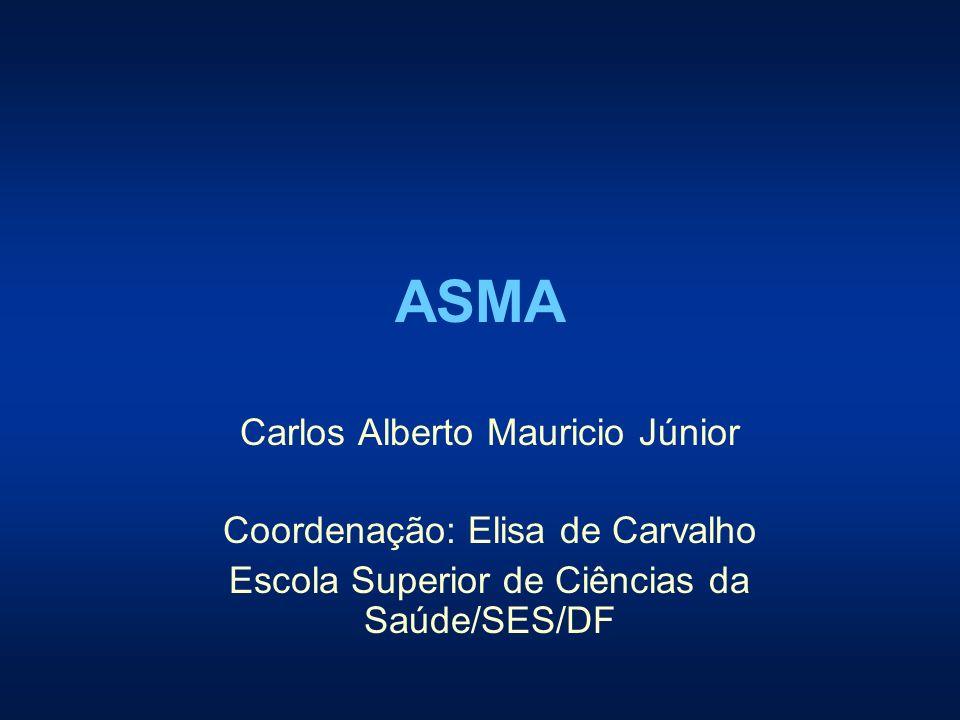 ASMA Carlos Alberto Mauricio Júnior Coordenação: Elisa de Carvalho Escola Superior de Ciências da Saúde/SES/DF