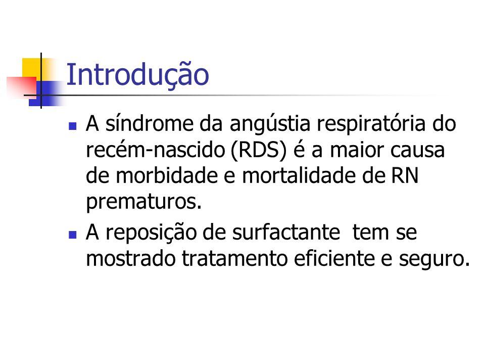 Mudanças imediatas na complacência pulmonar após a administração do surfactante natural em recém-nascidos prematuros com Síndrome de Angústia Respirat