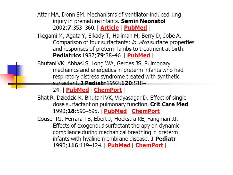 Referências do artigo: Surfactant replacement therapy for respiratory distress syndrome. American Academy of Pediatrics. Committee on Fetus and Newbor