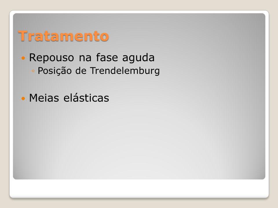 Tratamento Repouso na fase aguda Posição de Trendelemburg Meias elásticas