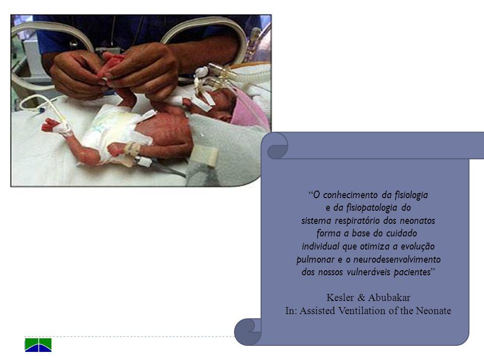 O conhecimento da fisiologia e da fisiopatologia do sistema respiratório dos neonatos forma a base do cuidado individual que otimiza a evolução pulmon