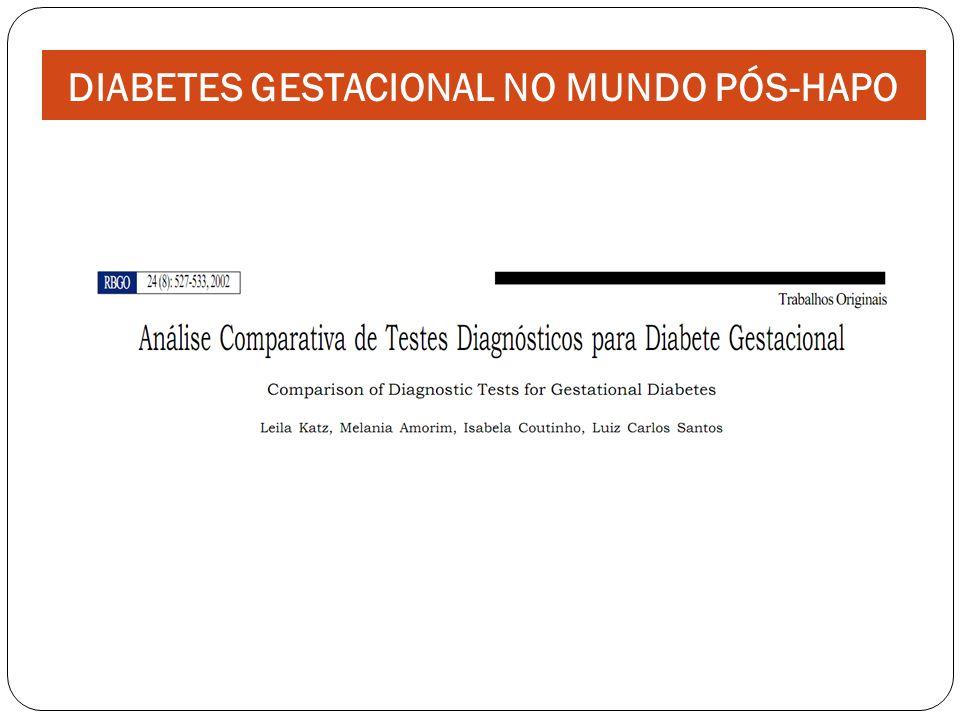 DIABETES GESTACIONAL NO MUNDO PÓS-HAPO