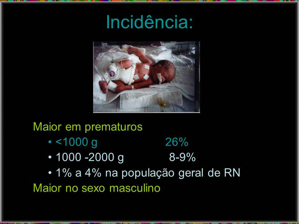 Apresentação Clínica: multissistêmica e inespecífica Hipo ou Hipertermia Apnéia, bradipnéia, gemência, taquidispnéia Palidez, cianose, pele marmórea, enchimento capilar lentificado (> 3 seg) Icterícia idiopática Irritabilidade, letargia, hipotonia, convulsões Taquicardia, bradicardia, hipotensão Vômitos, resíduos gástricos, distensão abdominal.
