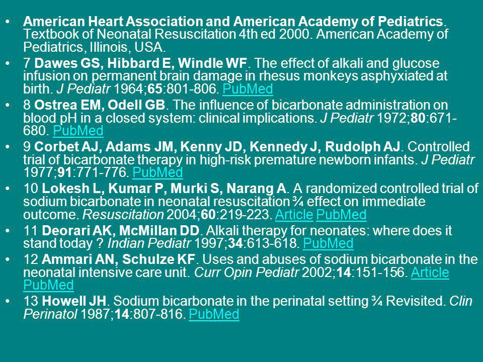American Heart Association and American Academy of Pediatrics.