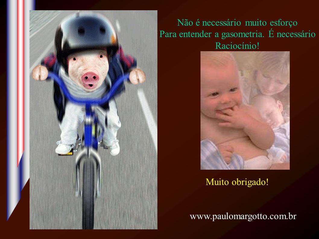 Muito obrigado! Não é necessário muito esforço Para entender a gasometria. É necessário Raciocínio! www.paulomargotto.com.br
