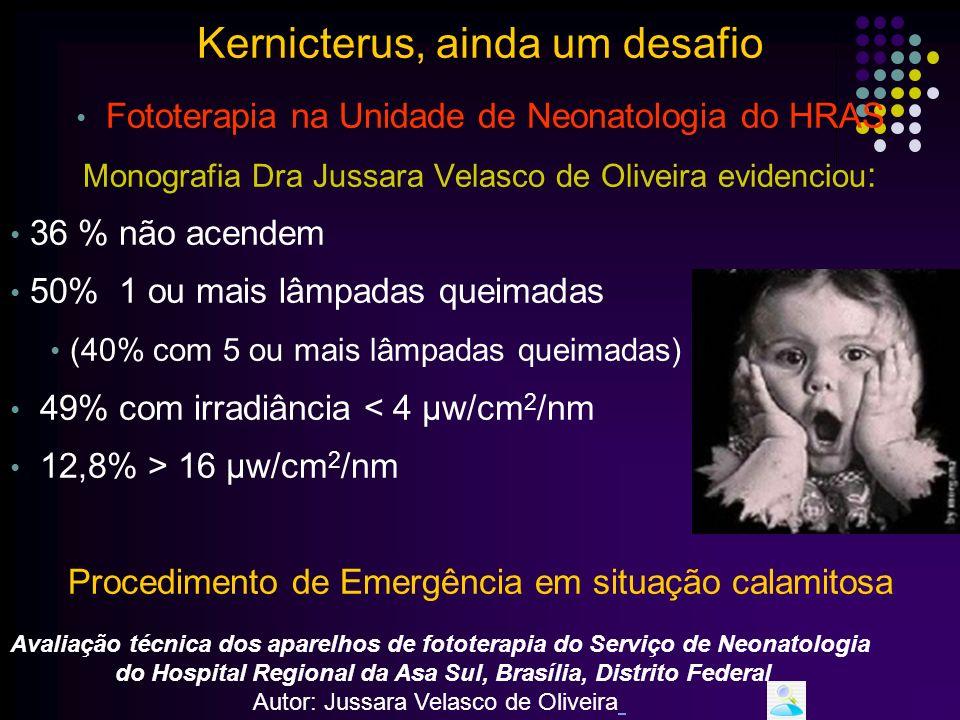 Fototerapia A Academia Americana de Pediatria recomenda: Realizar a medida da irradiância periodicamente Há uma relação direta entre irradiância e a taxa da queda de bilirrubina Kernicterus, ainda um desafio www.paulomargotto.com.br Tan, 1996